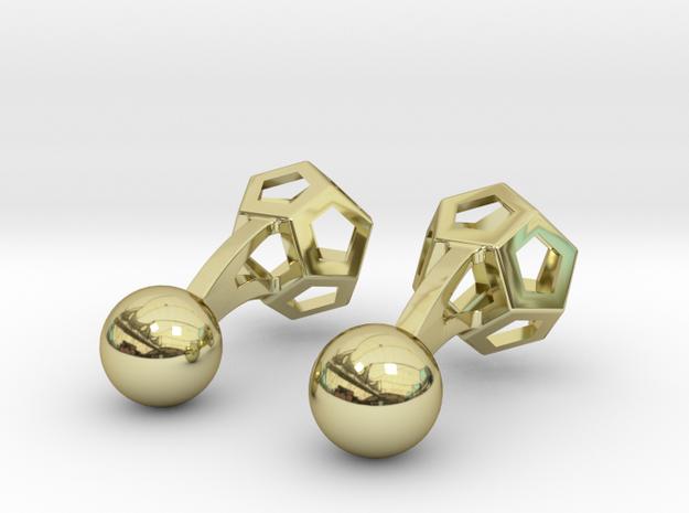 Dodecufflinks 3d printed