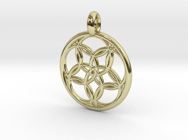 Hegemone pendant in 18K Gold Plated