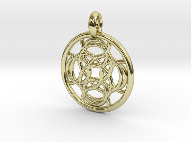 Thelxinoe pendant in 18K Gold Plated