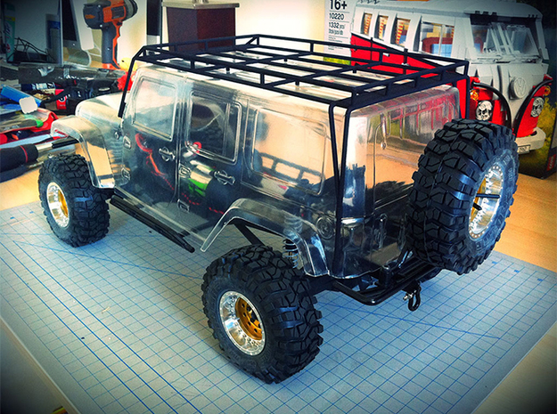 1/10 Scale Jeep Roof Rack 3d printed