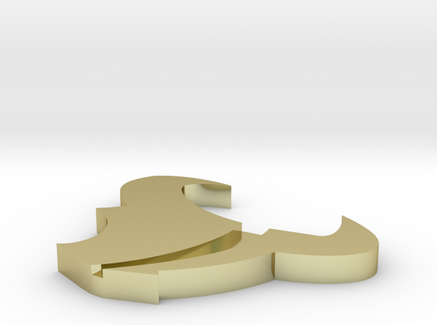 Bull's Logo Lapel Pin (3 Cm) With Larger Hole For  3d printed