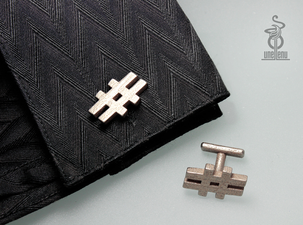 #cufflinks by unellenu . Hashtag cufflinks in Polished Bronzed Silver Steel