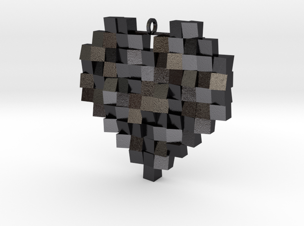 Faceted Heart 3d printed