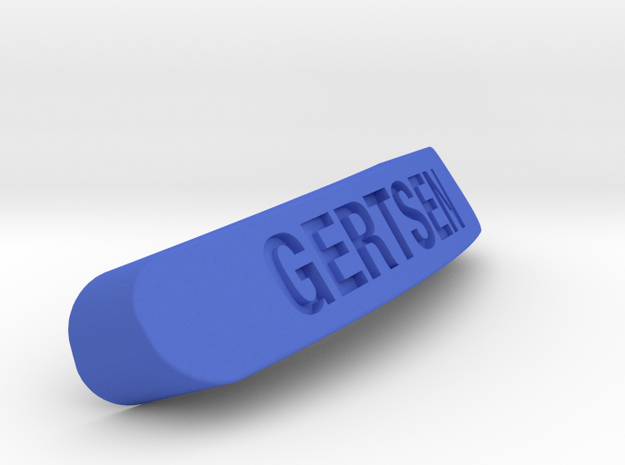 GERTSEN Nameplate for SteelSeries Rival in Blue Strong & Flexible Polished