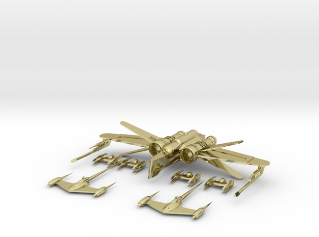 Clone Dragonfly + Art Deco Fighter + Robot Fig... 3d printed