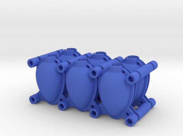 Egg Mold 6x45mm in Blue Processed Versatile Plastic