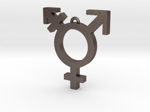 Transgender Pendant in Stainless Steel