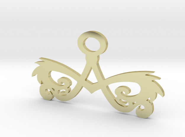 A tribal pendant 1.5 inch 3d printed