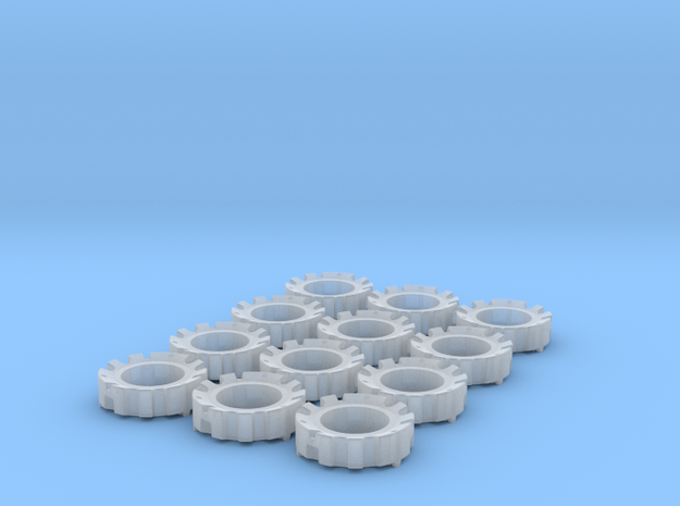 1/64 Wheel Weights Outer (12 Pieces) in Frosted Ultra Detail