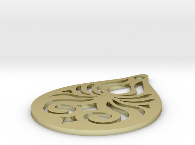 Manly Pendant 3d printed