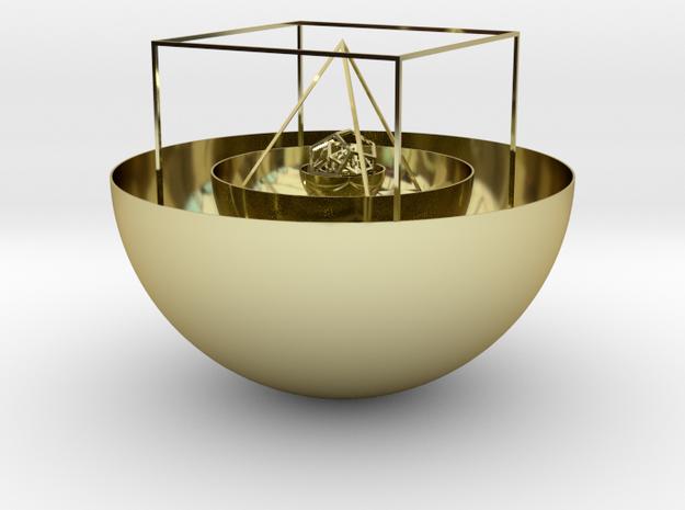 Kepler's solar system 3d printed