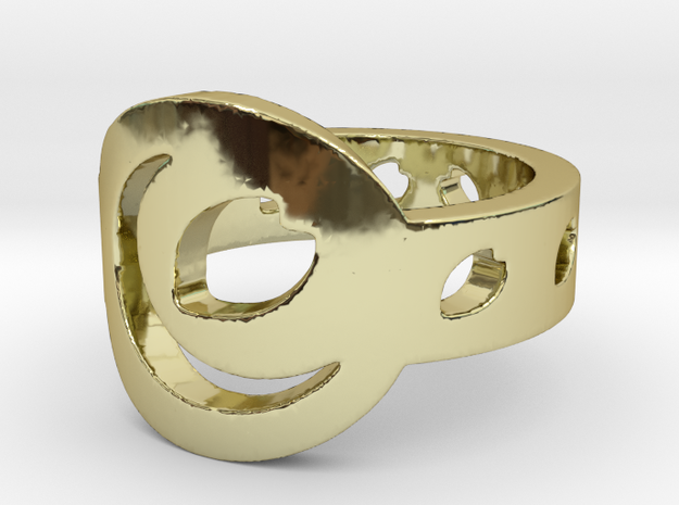 Cafe Design 1 Ring Size 7 3d printed