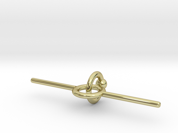 Industrial piercing without balls in 18K Gold Plated