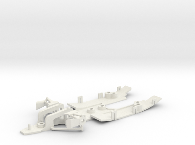 Renault RS10 chassis in White Natural Versatile Plastic