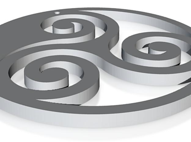 Tryskel pendant 3d printed