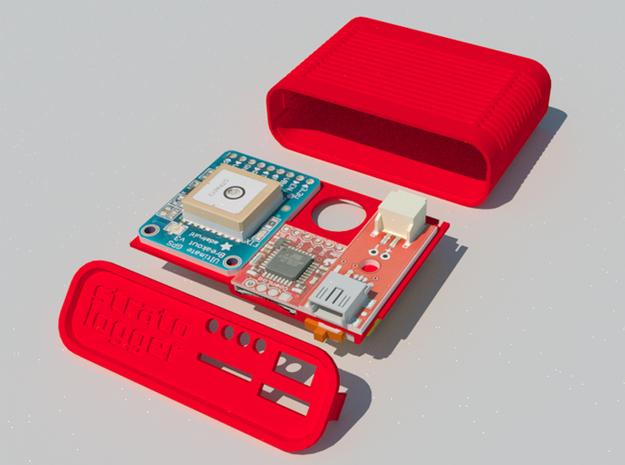 GPS logger case 3d printed SketchUp screenshot