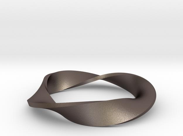 Moebius Strip Variant (1.5 turns) in Stainless Steel