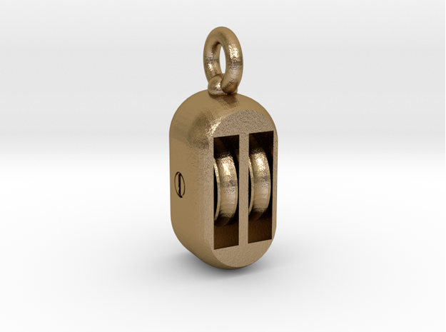 hoist pulley block ( assembling ) in Matte Gold Steel