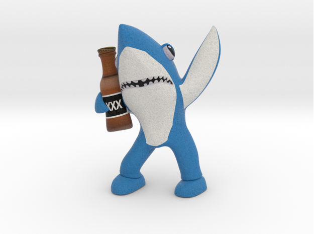 Blue Drunk Shark in Full Color Sandstone