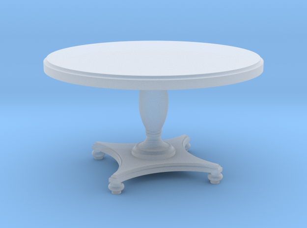 1:48 Round Colonial Dining Table in Frosted Ultra Detail
