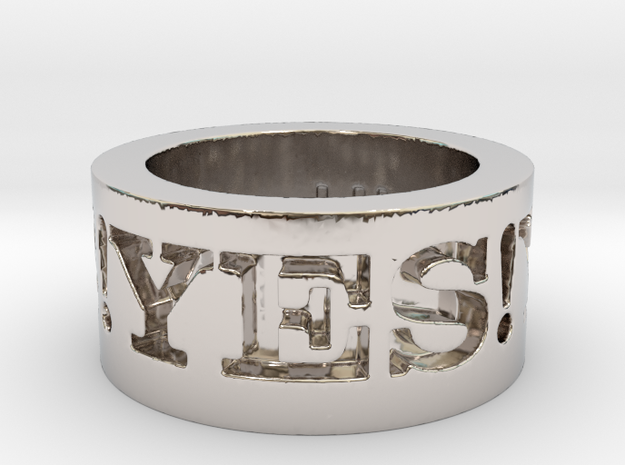 Yes! Ring Design Ring Size 8.5 3d printed