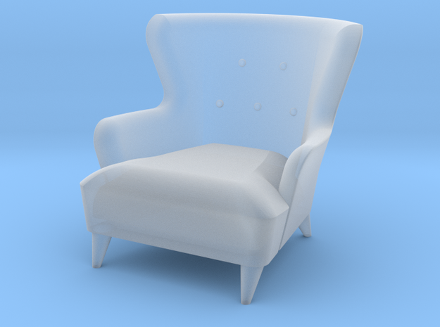 1:48 Wingback Barrel Chair in Frosted Ultra Detail
