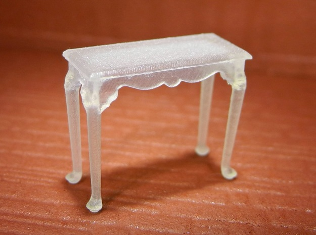 1:48 Queen Anne Console Table in Smooth Fine Detail Plastic