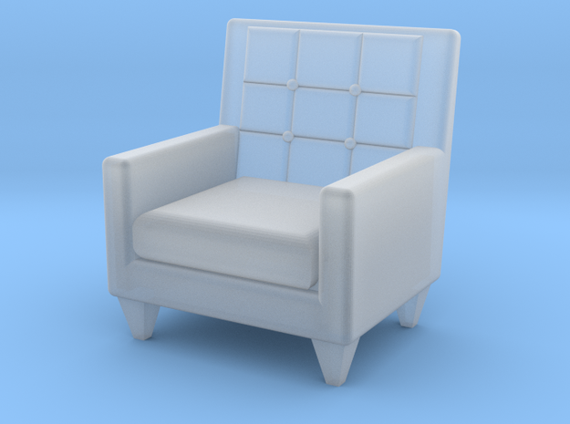 1:48 Sixties Armchair in Smooth Fine Detail Plastic