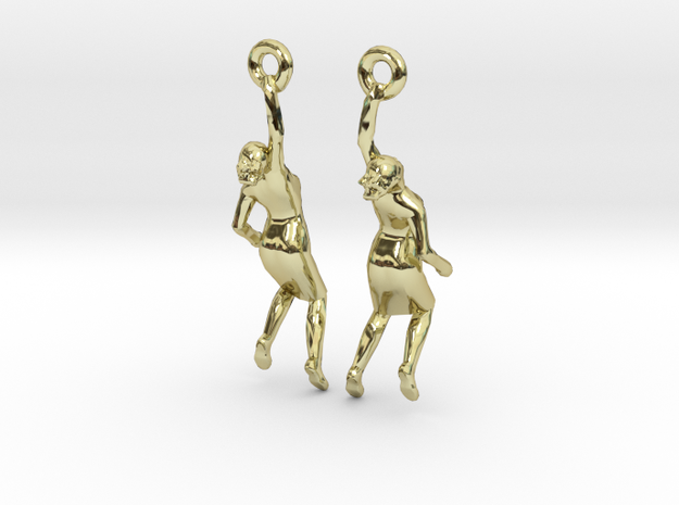 Earrings 'Golden lady' 3d printed