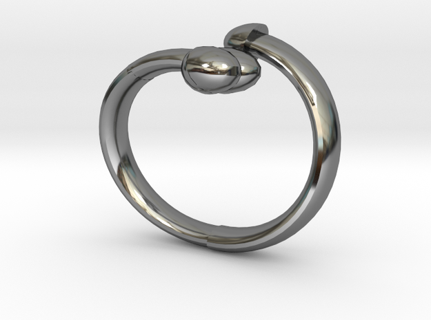 The D Ring - Sz.8 in Fine Detail Polished Silver