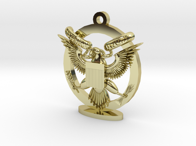Great Seal Emblem_Keychain w/ stand 3d printed