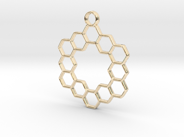 Honey pendant in 14k Gold Plated Brass