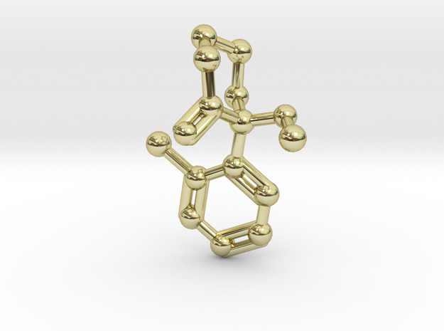 Ketamine Molecule Necklace Keychain Earring 3d printed