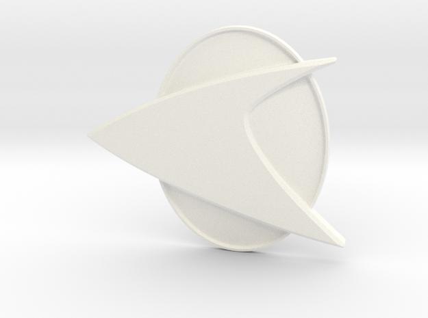 Star Trek TNG comm badge in White Strong & Flexible Polished