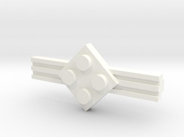 Brick Tie Clip-4 Stud 3d printed
