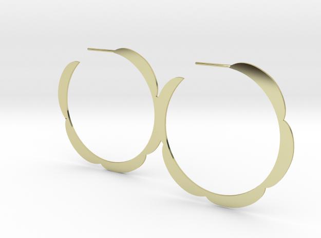 Flower hoop earrings 3d printed