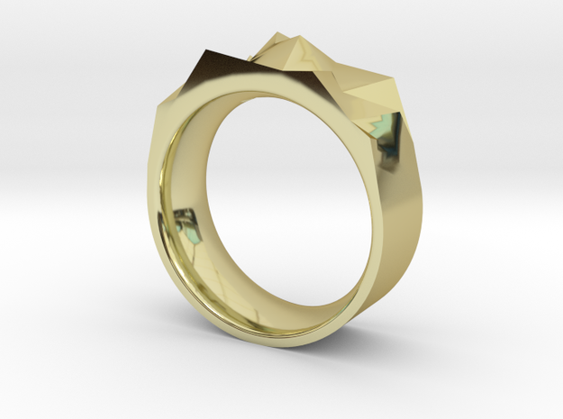 Triangulated Ring - 16mm 3d printed