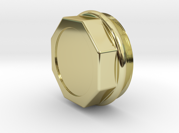 HUBCAP, 72MM RUDGE-WHITWORTH, LCP0104-1,  in 18K Gold Plated