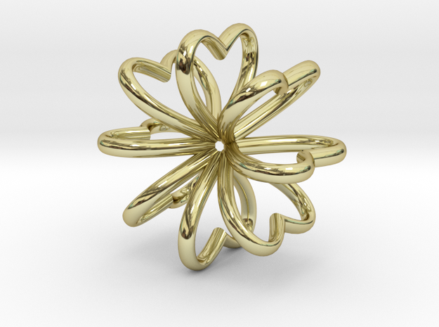 Heart Pendant 28mm in 18K Gold Plated