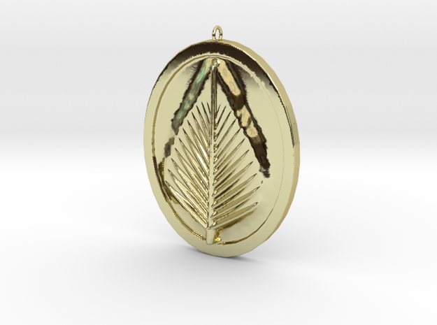 Natural Leaf Beauty Pendant  in 18K Gold Plated