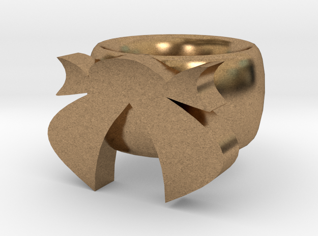Bow Ring in Natural Brass