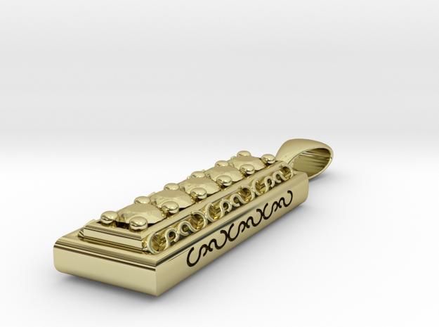 Silver Bar Pendant 3d printed