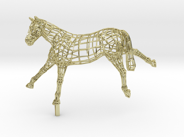 VICTORY - Gold Plated Horse in 18K Gold Plated