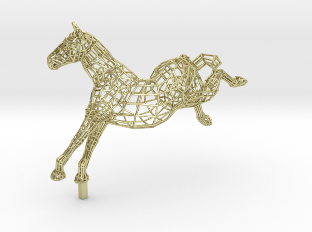 FREEDOM - Gold Plated Horse in 18K Gold Plated