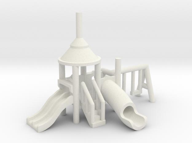 Spielplatz klein - 1:220 (Z scale) in White Natural Versatile Plastic