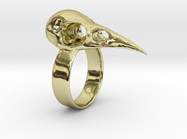 Realistic Raven Skull Ring - Size 7