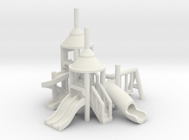 Spielplatz mittel - 1:220 (z scale) in White Natural Versatile Plastic