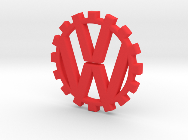 VW Gear in Red Processed Versatile Plastic