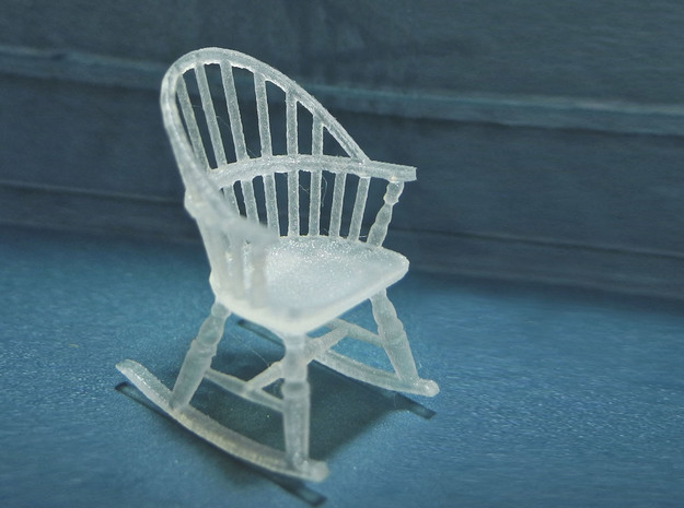 1:48 Windsor Rocking Chair in Smooth Fine Detail Plastic