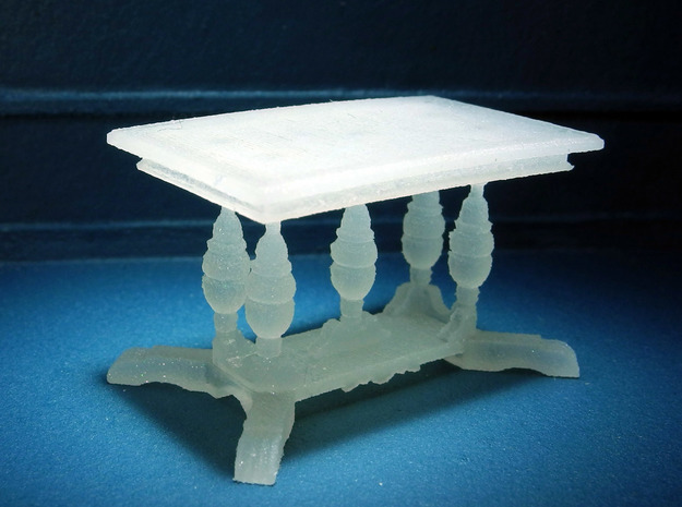 1:48 Old English Work Table in Smooth Fine Detail Plastic
